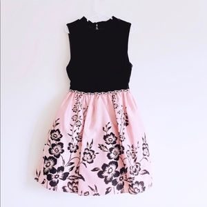Little Girl Pink/Black Floral Print Dress 7